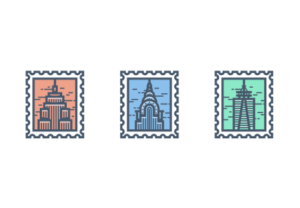 Draw a Vector New York Stamp Icon in Illustrator