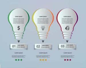 Draw a Light Bulb Infographic Design in Illustrator