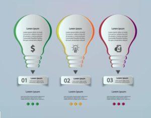 Draw a Light Bulb Infographic Design in Illustrator