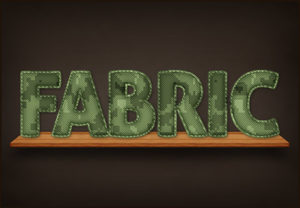 Create a Mimetic Fabric Text Effect in Photoshop