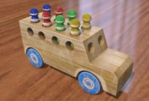 Model a Wood Minibus Toy in Cinema 4D