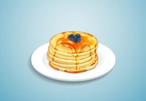 Draw a Stack of Pancakes with Syrup in Illustrator