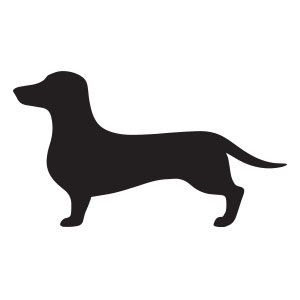 Dachshund Silhouette Free vector download
