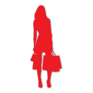 Shopping Woman Silhouette Free Vector download