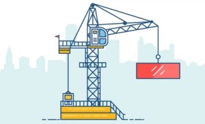Draw a Vector Tower Crane Line Art in Illustrator