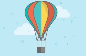 Draw a Vector Colorful Hot Air Balloon in Illustrator