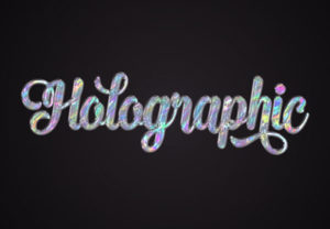 Quick Holographic Text Effect in Adobe Photoshop