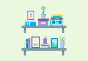 Draw a Vector Flat Design Wall Shelves in Illustrator