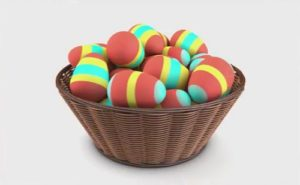 Modelling an Easter Wicker Basket in Cinema 4D
