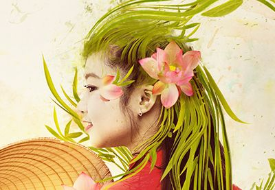 Create Abstract Vietnamese Woman Portrait in Photoshop