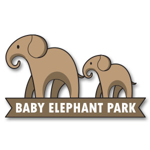 Baby Elephant Park Free Vector Logo download