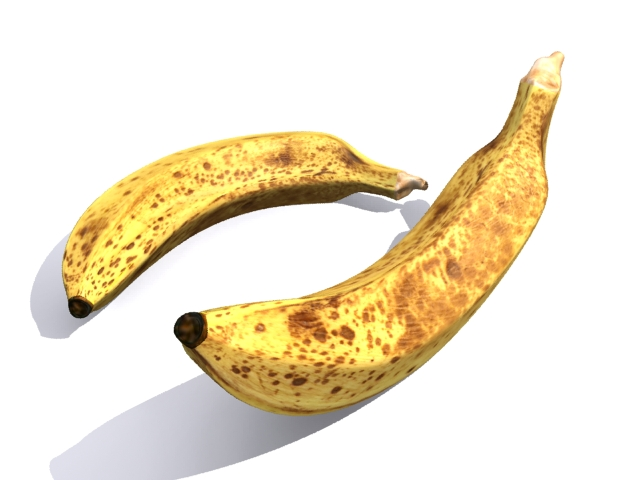 Banana fruit free 3d object download