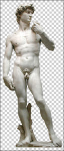Michelangelo's David Statue Free PNG download
