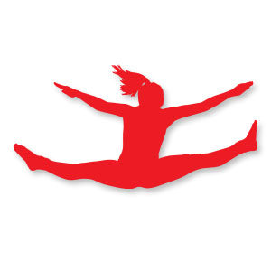 Girl Jumping Silhouette Free Vector download