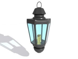 Candle Lantern 3D Free Object download
