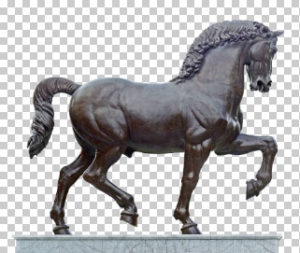 Leonardo's Horse Statue Free PNG download