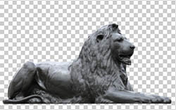 Trafalgar Square Lion PNG image Free download
