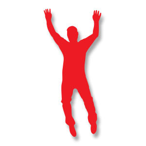 Man Jumping Silhouette Free Vector download