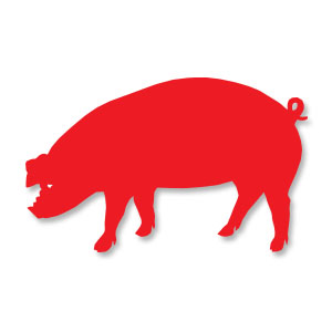 Pig Silhouette Free Vector download