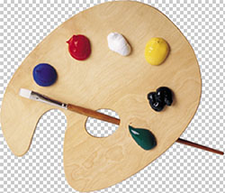 Artist Palette Colors PNG download