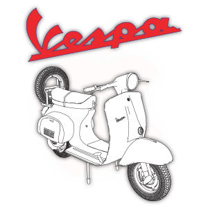 Vespa 150 Piaggio Free Vector download