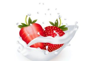 Draw a Strawberries in a Milk Splash in Illustrator