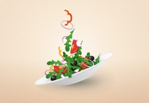 Draw a Colorful Salad Plate in Adobe Illustrator