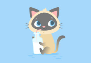 Draw a Vector Cute Cartoon Kitten in Illustrator
