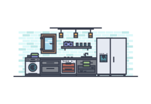 Draw a Vector Modern Kitchen in Illustrator