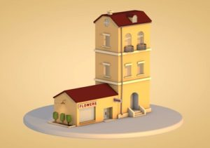 Modelling a Low Poly Apartment & Shop in Cinema 4D