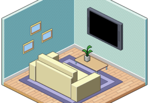 Draw an Isometric Pixel Art Room in Photoshop