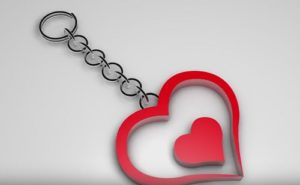 Modeling a Simple Heart Keyrings in Cinema 4D