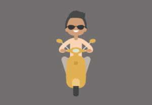 Draw a Vector Boy on a Scooter in Adobe Illustrator