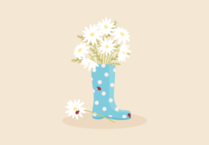 Draw a Rain Boot with Daisies in Adobe Illustrator