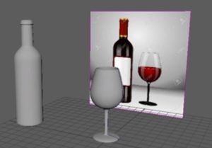 Model a Wine Glass and Wine Bottle in Maya