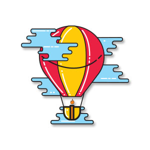 Air Balloon Icon Free Vector download