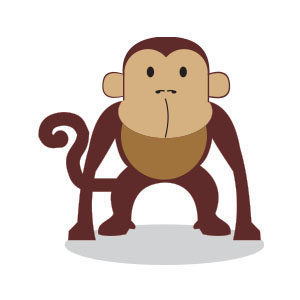 Cute Ape Free Vector download