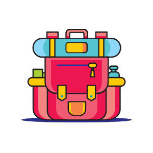 Backpack Icon Free Vector download