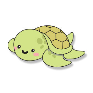 Catoon Sea Turtle Free Vector download