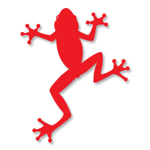 Frog Silhouette Free Vector download