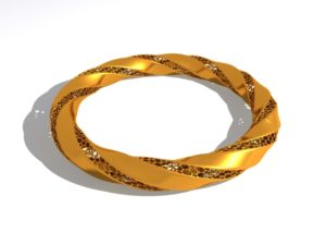 Gold Gracelet 3D Object Free download