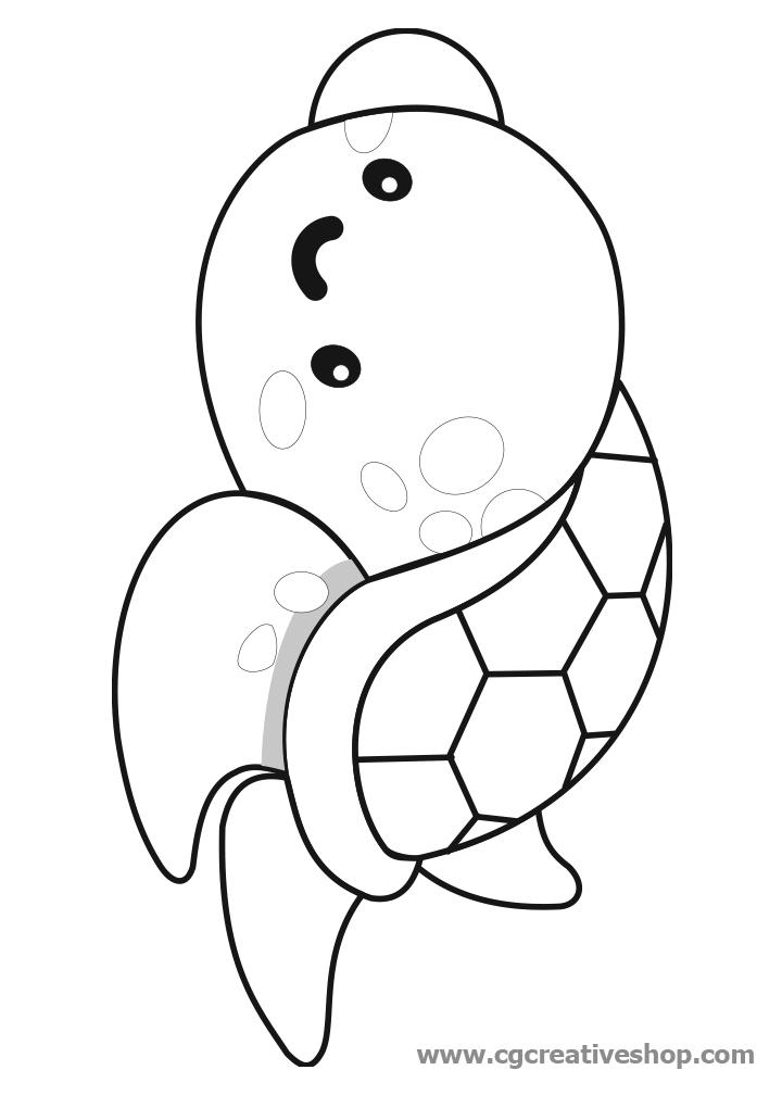 Tartarughina Marina, disegno per bambini da colorare