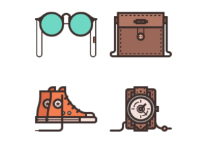 Draw a Stylish Accessories Icon Set in Illustrator