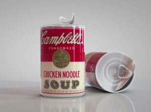 Modeling a Soup Cans in Maxon Cinema 4D