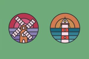 Draw a Lighthouse and Windmill Icons in Illustrator