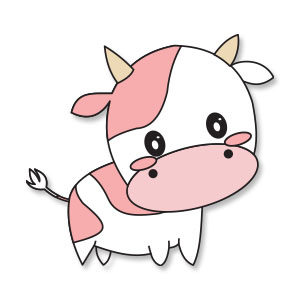 Cute Cow Animal Vector Free download