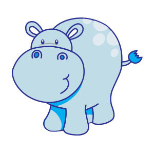 Cute Vector Hippo Free download