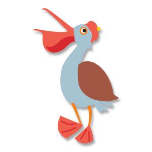 Comic Pelican Bird Free Vector download