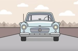 Draw a Car Landscape Flat Design in Illustrator