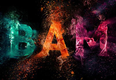 Create a Colorful Explosion Text in Photoshop